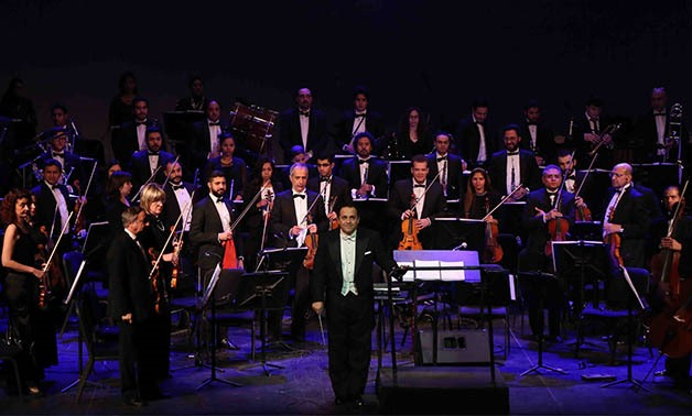Conductor Nayer Nagui and Cairo Symphony Orchestra – Photo Courtesy of Cairo Opera House Media office