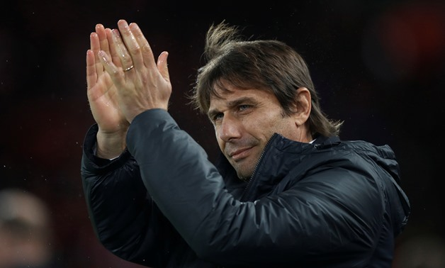 Soccer Football - Premier League - Liverpool vs Chelsea - Anfield, Liverpool, Britain - November 25, 2017 Chelsea manager Antonio Conte applauds fans before the match Action Images via Reuters/Carl Recine