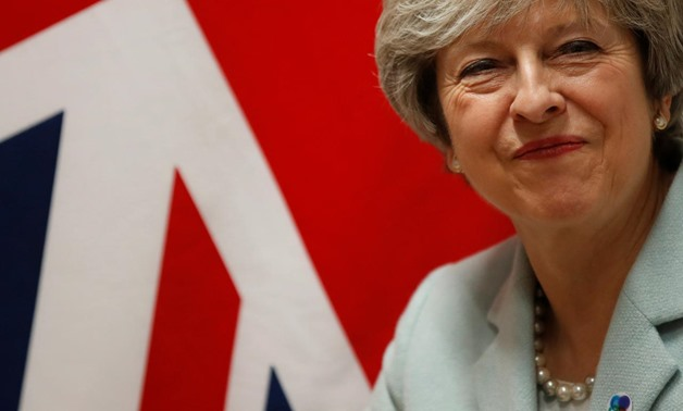 """Britain's Prime Minister Theresa May attends a bilateral meeting during the Eastern Partnership summit at the European Council Headquarters in Brussels, Belgium November 24, 2017. REUTERS/Christian Hartmann """"Iraqi-British relations have witnessed an i"""