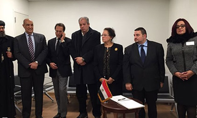 File – Egyptian Consul General in New York Hesham el Naqib, receives condolences for the martyrs of Al-Rawdah mosque attack