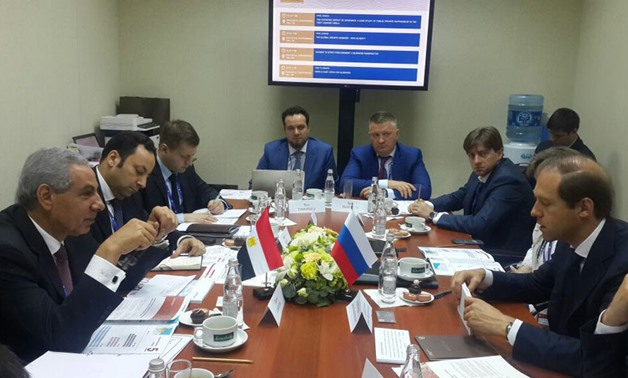 Previous meeting between Egypt and Russian Ministries of Trade and Industry, Russia, 2016 - Egypt's Trade and Industry Ministry official website
