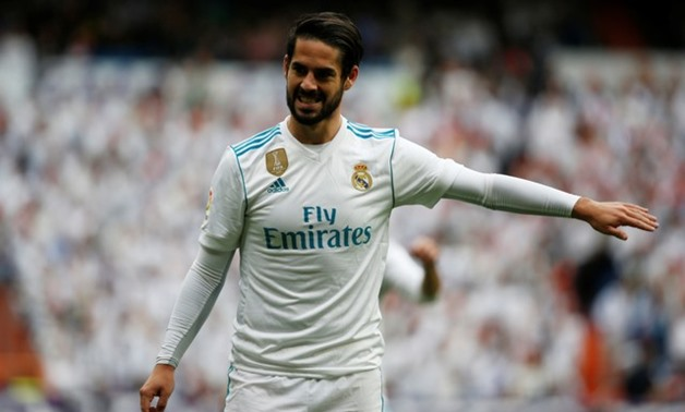 Soccer Football - La Liga Santander - Real Madrid vs Malaga - Santiago Bernabeu, Madrid, Spain - November 25, 2017 Real Madrid's Isco gestures REUTERS/Javier Barbancho