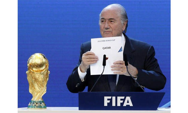 FIFA President Sepp Blatter announces Qatar as the host nation for the FIFA World Cup 2022, in Zurich in this December 2, 2010 file photo - REUTERS/Christian Hartmann