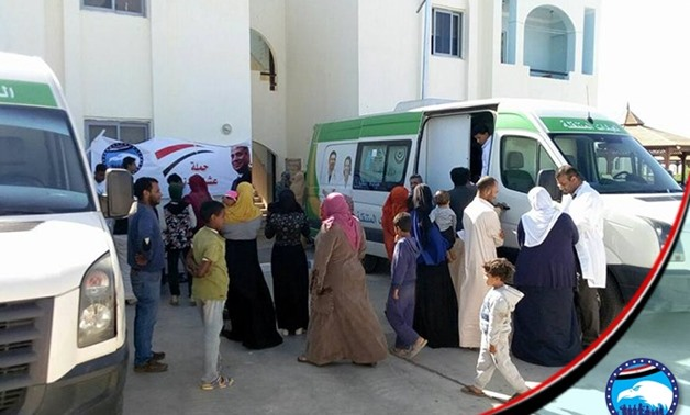 "Press Photo - ""To build it"" campaign in cooperation with Nation's Future party arranges medical and food convoys in Halayeb, Shalatin and Abu Ramad of the Red Sea Governorate, December 1, 2017."