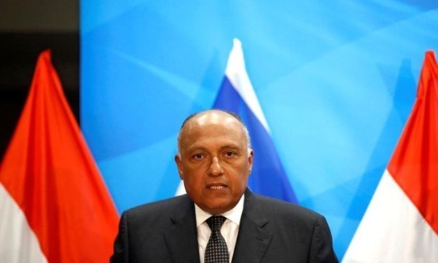 FILE - Foreign Minister Sameh Shoukry