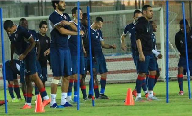 Zamalek training ahead of Degla's game – Courtesy of Zamalek's website