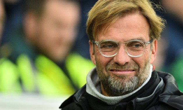 Liverpool's Jurgen Klopp is seen ahead of kick off of their match against Brighton and Hove Albion at the American Express Community Stadium in Brighton, southern England on December 2, 2017