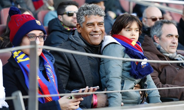 Ex-Barcelona coach Frank Rijkaard visited the game against Celta – FC Barcelona official Twitter account