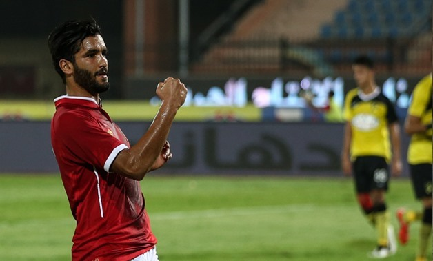 Saleh Gomaa celebrates his goal against Wadi Degla in the Egyptian Cup, July 13 2017, Courtesy of Al-Ahly official website