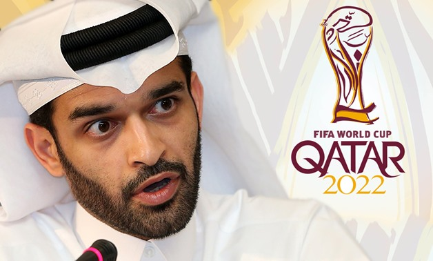 On Nov. 20, Qatar's Secretary-General of the Supreme Committee for Delivery and Legacy, Hassan Al-Thawadi told press that politics should be separated from sports – Photo compiled by Egypt Today/Mohamed Zain