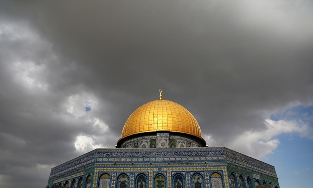 Clouds gather over the Dome of the Rock, located on the compound known to Muslims as Noble Sanctuary and Jews as Temple Mount, in Jerusalem's Old City November 6, 2017. REUTERS/Ammar Awad
