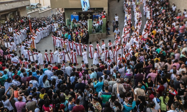 Church clergy and Copts celebrate at Dronka Monastery in Assiut, Egypt, in September 2017 – Egypt Today/Hazem Abdel Samar