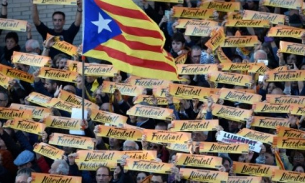 © AFP/File | Independence supporters have held huge protests in Catalonia in recent weeks