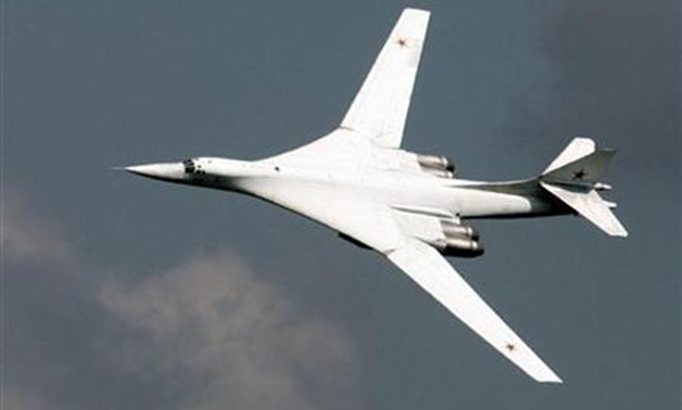 "A Russian TU-160 strategic bomber in a file photo. Russia's Air Force said on Tuesday British and Norwegian air force jets are tracking Russian ""Blackjack"" bombers on exercises off the Atlantic coast, Interfax news agency reported. REUTERS/Viktor Korotaye"