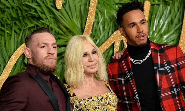 Connor McGregor, Donatella Versace and Lewis Hamilton – Photo Via Fashion Awards