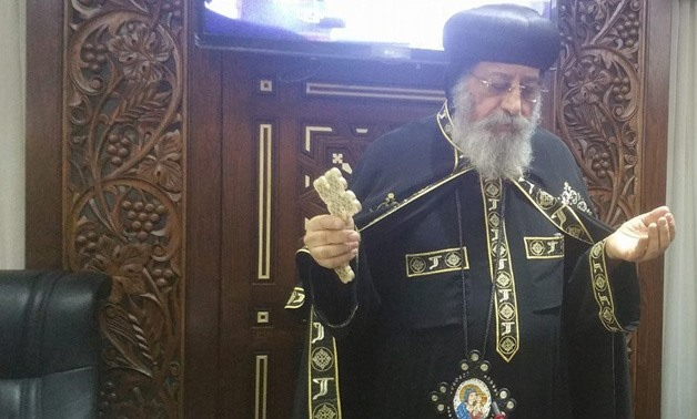 FILE – Pope Tawadros II of Alexandria during the Holy Synod meeting
