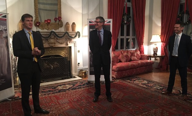UK's Ambassador to Egypt John Casson welcomes LOC Group in the permises of the embassy- Press Photo