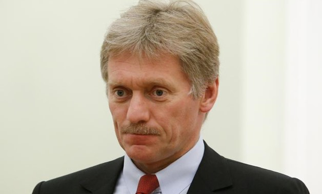 Kremlin spokesman Dmitry Peskov attends a meeting of Russia's President Vladimir Putin with his Macedonian counterpart Gjorge Ivanov at the Kremlin in Moscow, Russia, May 24, 2017. REUTERS/Sergei Karpukhin
