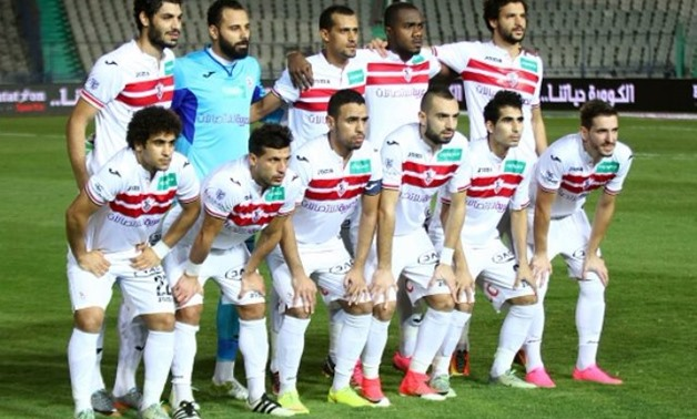 Zamalek`s team in one of the League`s matches – FILE Youm7 website