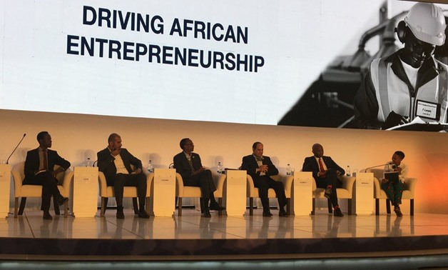 Driving African Entrepreneurship session attended by the Egyptian and Rwandan presidents - Photo courtesy of EFG Hermes