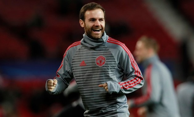 Soccer Football - Champions League - Manchester United vs CSKA Moscow - Old Trafford, Manchester, Britain - December 5, 2017 Manchester United's Juan Mata during the warm up before the match Action Images via Reuters/Jason Cairnduff
