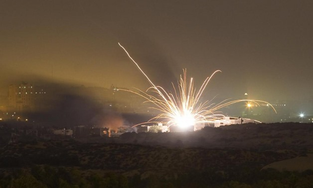 An Israeli rocket is fired into the northern Gaza Strip July 17, 2014. REUTERS/Amir Cohen