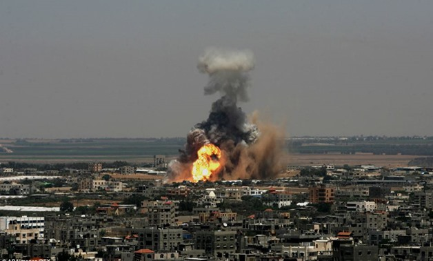 Israel strikes Gaza militant posts after fire rockets fired at Israel - Reuters