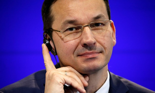FILE PHOTO: Poland's Finance Minister Mateusz Morawiecki attends a news conference at the Bercy Ministry in Paris, France, February 22, 2017. REUTERS/Charles Platiau/File Photo