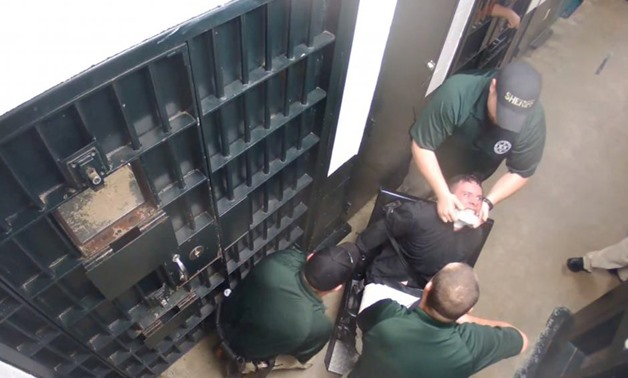 Jordan Norris is seen in this still image taken from video in Cheatham County Jail in Ashland City, Tennessee, U.S., November 5, 2016. Cheatham County Sheriff's Office/Handout via REUTERS
