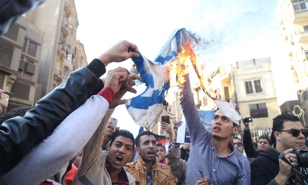 Egyptian protesters staged a march from al-Azhar Mosque after Friday prayer, in protest at U.S. President Donald Trump's decision of recognition Jerusalem as Israel's capital - Egypt Today/ Mohamed El-Hosary