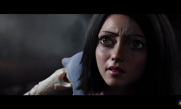 Screencap from the film's official trailer showing Alita, December 9, 2017 – YouTube/20th Century Fox UK