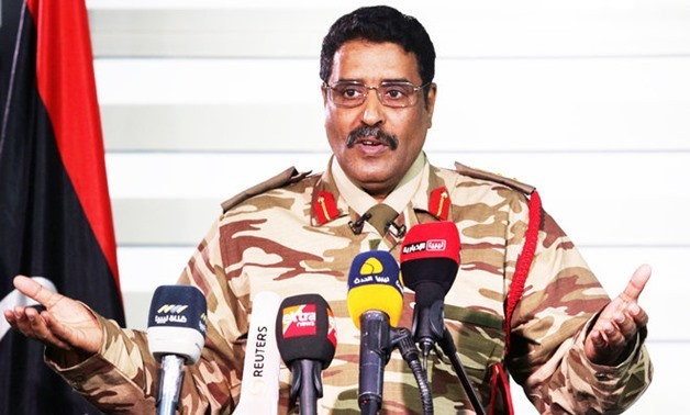 FILE - Spokesperson of the Libyan National Army (LNA) Ahmed al-Mesmary