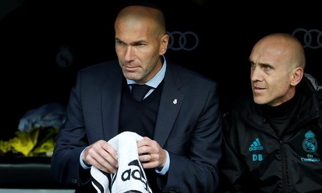 La Liga Santander - Real Madrid vs Sevilla - Santiago Bernabeu, Madrid, Spain - December 9, 2017 Real Madrid coach Zinedine Zidane - REUTERS/Javier Barbancho