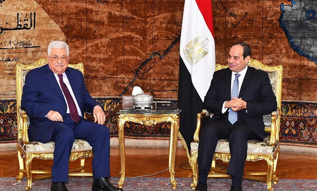 President Abdel Fatah al-Sisi received his Palestinian counterpart Mahmoud Abbas in Cairo on December 11, 2017 – Press Photo