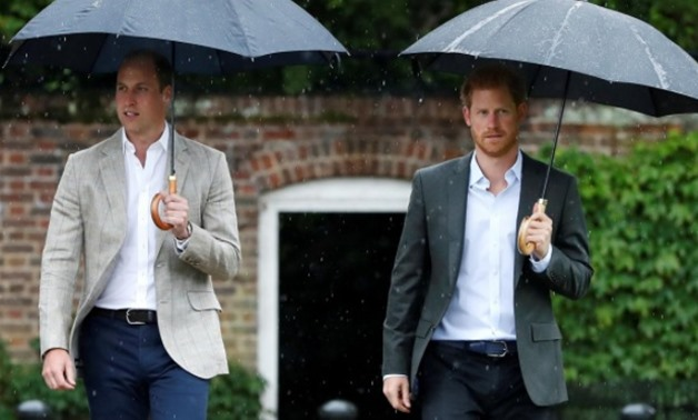 FILE PHOTO: Britain's Prince William, Duke of Cambridge and Prince Harry visit the White Garden in Kensington Palace in London, Britain August 30, 2017.