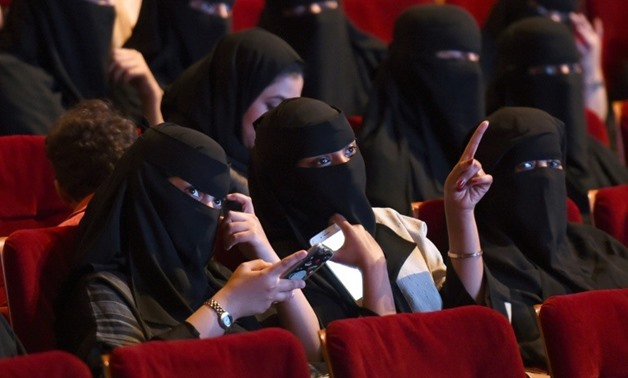 Saudi women attend a short film festival in October, 2017 in Riyadh in a precursor of things to come -AFP