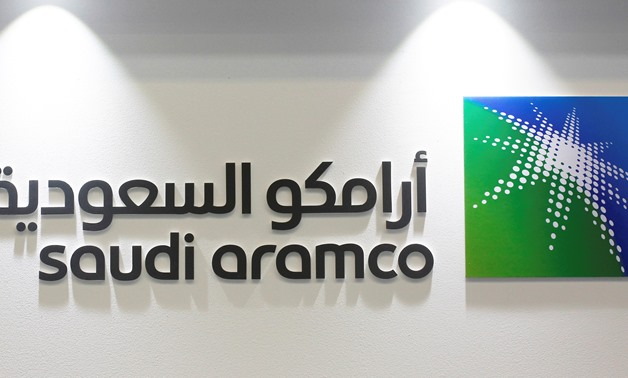 Logo of Saudi Aramco is seen at the 20th Middle East Oil & Gas Show and Conference (MOES 2017) in Manama, Bahrain, March 7, 2017. REUTERS/Hamad I Mohammed/File Photo