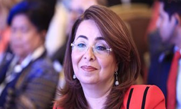 FILE -Minister of Social Solidarity Ghada Waly