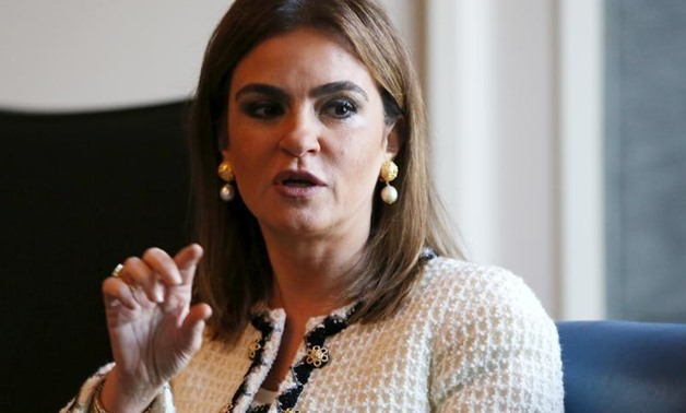 International Cooperation Minister Sahar Nasr talks during an interview with Reuters in Cairo, Egypt, December 8, 2015. Egypt expects to receive $1.5 billion from the World Bank and African Development Bank by year-end to support the budget and could disc