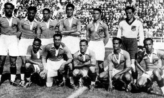 Egypt national team before Hungary game at 1934 World Cup  -  Bigsoccer.com
