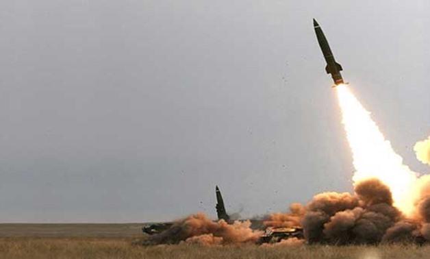 Houthi launching missiles towards Riyad - FILE