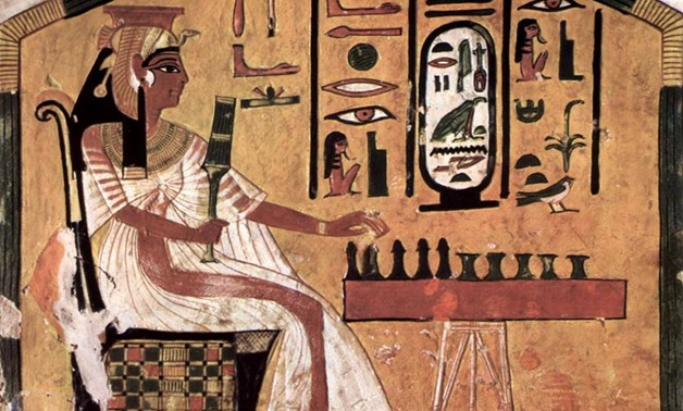 Queen Nefertari while playing chess [Photo Courtesy:  Ancient Egypt in our Heart official Facebook page]