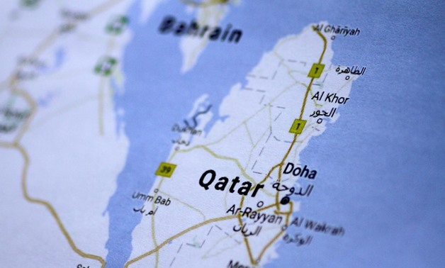 A map of Qatar, June 5, 2017. REUTERS/Thomas White/Illustration