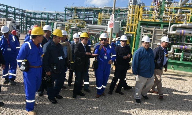 Petroleum Minister Tarek el-Molla visiting the site during the official operation of Zohr gas field – Press photo