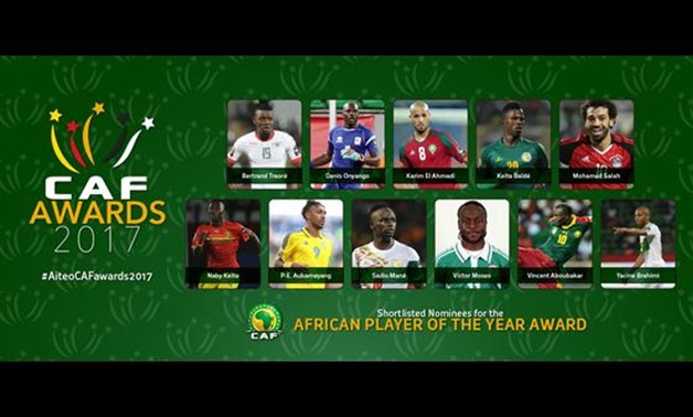 Shortlists for African player of the year – Courtesy of CAFonline.com