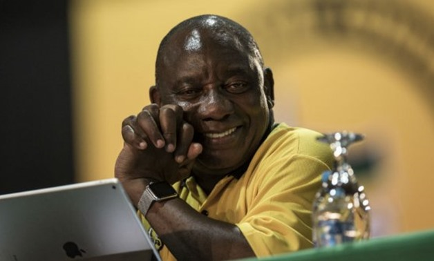 © Gulshan Khan, AFP | South African Deputy President and ANC Presidential candidate Cyril Ramaphosa looks on as he attends a plenary meeting at the NASREC Expo Centre during the 54th ANC national congress on December 17, 2017 in Johannesburg.