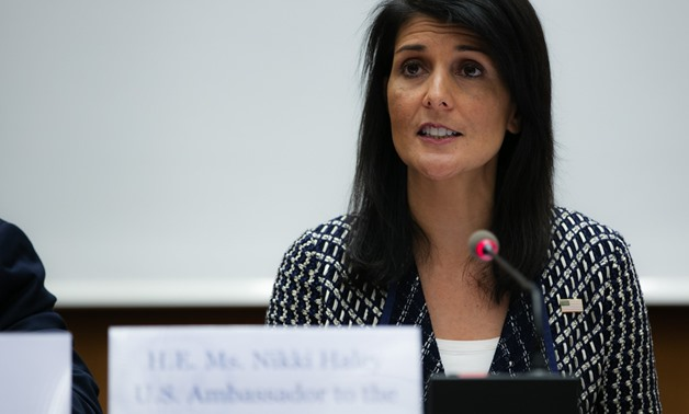 Ambassador Nikki Haley, U.S. Permanent Representative to the United Nations, participated in a Human Rights Council side event organized to focus the attention of the international community on the human rights crisis in Venezuela. June 6, 2017/ flickr- U
