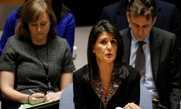 The veto cast by US Ambassador Nikki Haley highlighted Washington's isolation over Trump's call - AFP