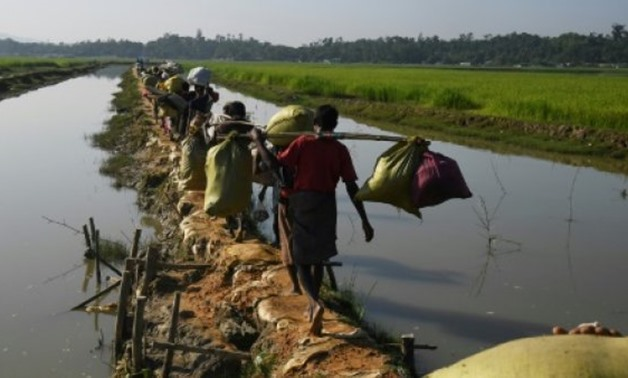 © AFP/File | Some 655,000 Rohingya have fled over the border to Bangladesh