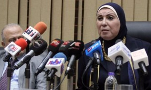 FILE- Nevine Gamea - the first woman to assume the position of minister of trade and industry, succeeding Amr Nassar